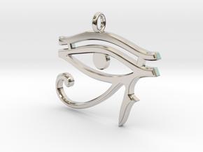 Eye of Horus Pendant 2 v1 in Platinum