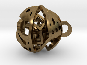 Pendant Abstract Ball in Natural Bronze