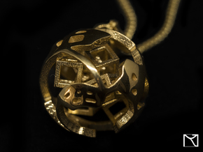 Pendant Abstract Ball in 18k Gold Plated