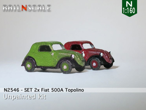 Fiat Topolino SET (N 1:160) in Smooth Fine Detail Plastic