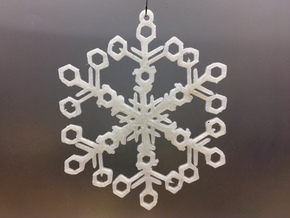 Organic Snowflake Ornament - Switzerland in White Natural Versatile Plastic