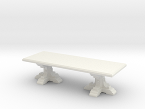 Medieval Italian feast table scaled for 1:48 (#2) in White Strong & Flexible