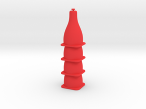Tiny Traffic Cone 4 Pack in Red Processed Versatile Plastic
