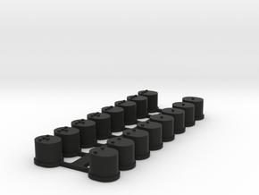 RSD TC7.1 Suspension Mount Inserts in Black Natural Versatile Plastic