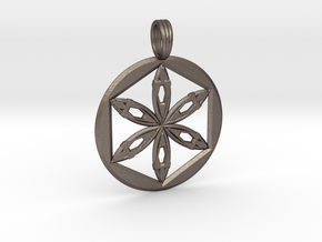POWER SEED in Polished Bronzed Silver Steel