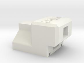 HOn3 Sergent coupler gauge in White Natural Versatile Plastic