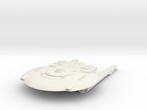 Federation KittyHawk Class III  Cruiser in White Natural Versatile Plastic