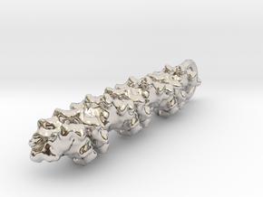 Molecular DNA Pendant in Platinum