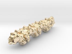 Molecular DNA Pendant in 14k Gold Plated Brass