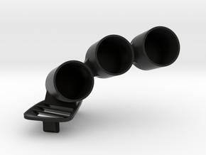 TRIPLE POD VENT MS6 in Black Natural Versatile Plastic