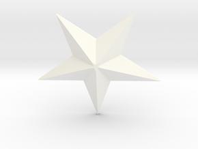 Star in White Processed Versatile Plastic