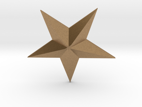 Star in Natural Brass