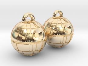Death Star Earrings in 14k Gold Plated Brass