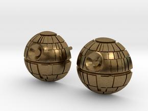 Death Star Studs in Natural Bronze