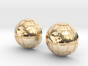 Death Star Studs in 14k Gold Plated Brass