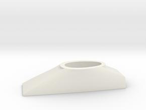 1/100 DKM Scharnhorst Funnel part4 Basement in White Natural Versatile Plastic