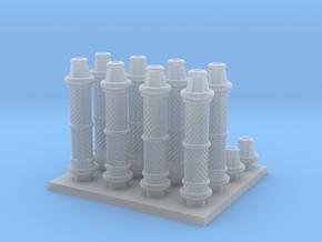 Decorative Column parts in Smooth Fine Detail Plastic