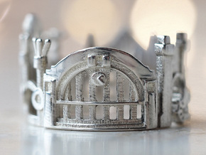 Cincinnati Cityscape - Skyline Statement Ring in Polished Silver