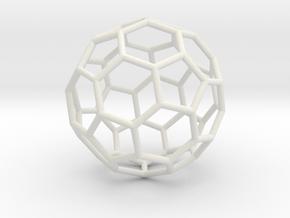 0624 Fullerene c60-ih - Model for the BFI (Bulk) in White Premium Versatile Plastic