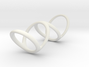 Ring for Bob L1 1 1-4 L2 1 3-4 D1 7 D2 9 1-2 D3 10 in White Premium Strong & Flexible