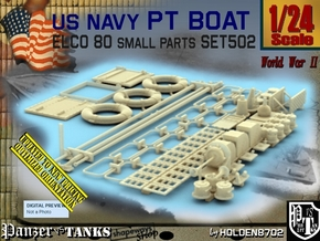 1/24 PT Boat Small Parts Set502 in Smooth Fine Detail Plastic