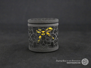 Gift Box No. 1 with Mosaic-2 (filigree, high) in Black Natural Versatile Plastic