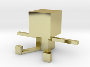Square Man in 18k Gold