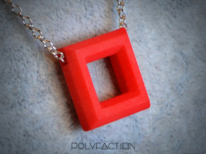 Chisel ::: Square Pendant ::: v.01 in Rhodium Plated Brass
