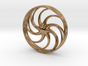 Anemone Pendant in Polished Brass