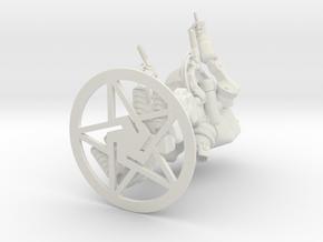 PISTOL-SHRIMP, Economy Scout Bot in White Natural Versatile Plastic