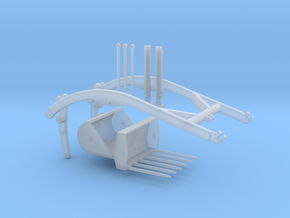 Unimog Frontlader in Smooth Fine Detail Plastic