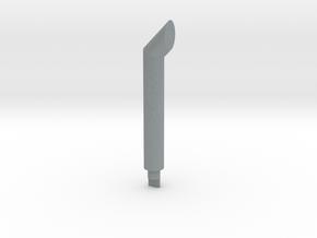 Auspuff 4mm in Polished Metallic Plastic