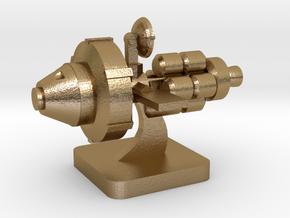 Mini Space Program, Interplanetary Ship 5 in Polished Gold Steel