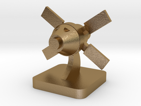 Mini Space Program, Crew Spacecraft in Polished Gold Steel