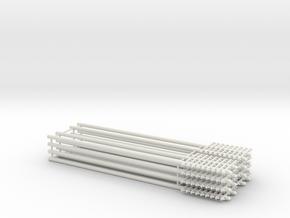 Double Pole 9 rung Telegraph Pole in White Natural Versatile Plastic
