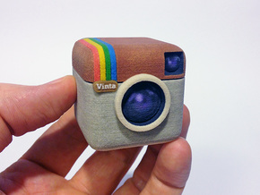 Instagram Style 3D Camera in Full Color Sandstone