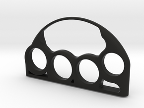 Chic Brass Knuckles with Custom Lettering in Black Natural Versatile Plastic: 7 / 54