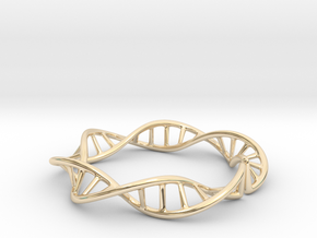 DNA Double Helix in 14K Yellow Gold