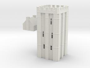 HOF041 - Castle keep in White Natural Versatile Plastic