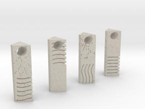 Element Stone Pendants (4 Pack) in Natural Sandstone