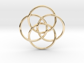 Quadruple Vesica Piscis in 14K Yellow Gold