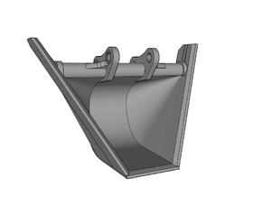 "HO - Bucket ""V"" shape for 20-25t excavators in Frosted Ultra Detail"