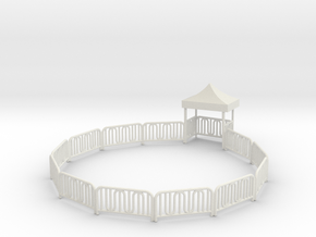 Dive Bomber Fence with entrance gate in White Natural Versatile Plastic