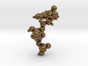 ATP Molecule Pendant in Natural Bronze: Small