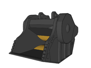 HO - Crusher Bucket for 20-25t excavators in Smooth Fine Detail Plastic