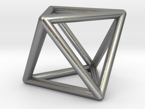 Octahedron in Natural Silver