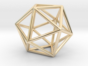 Icosahedron in 14K Yellow Gold