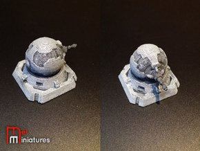 Rebel Turbolaser Turret in White Natural Versatile Plastic