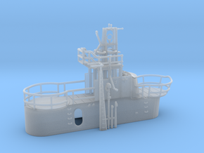 1/144 US Gato Conning Tower (Fairwater) in Smooth Fine Detail Plastic