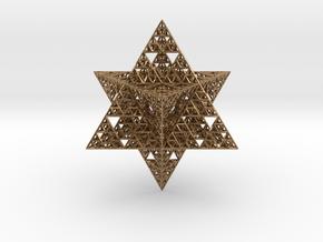Sierpinski Merkaba 12 cm (downloadable) in Natural Brass